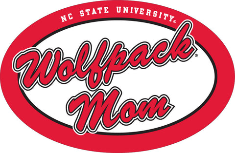 NC State Euro Wolfpack Mom Vinyl Decal