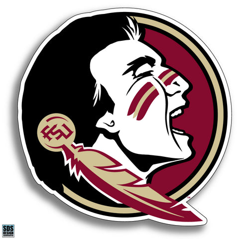 "Florida State ""Seminole Head"" Vinyl Decal"