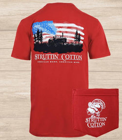 Struttin Cotton Harvest Pride Red Tee