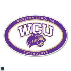 WCU Euro Arched Mascot Decal