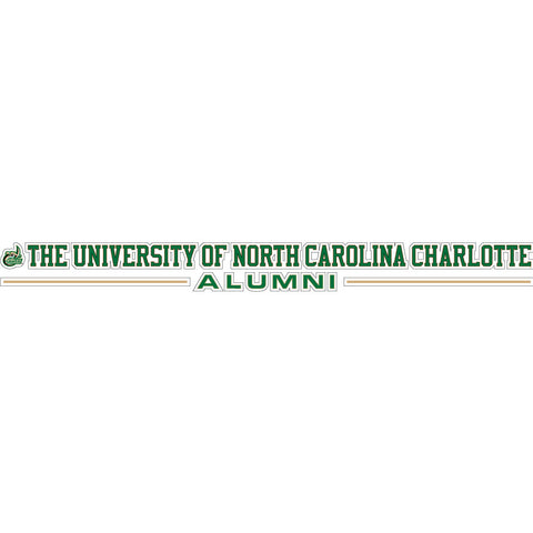 "UNCC Alumni 20""x 2"" Text Decal"