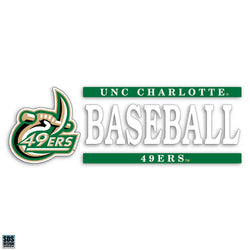 UNCC Baseball Vinyl Decal