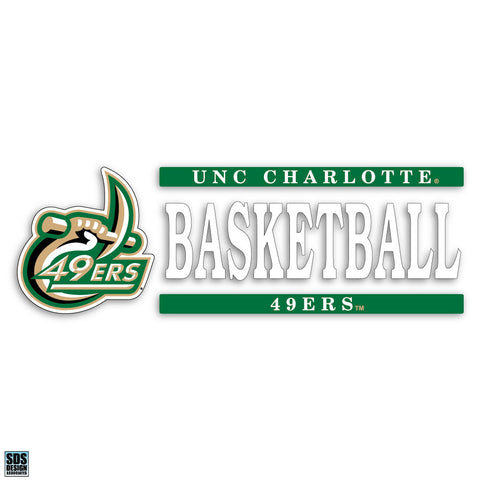 UNCC Basketball Vinyl Decal