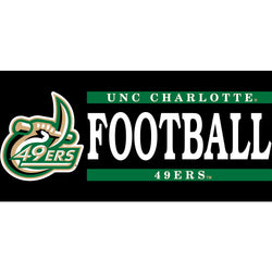 UNCC Football Vinyl Decal