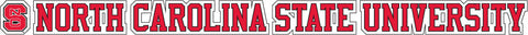 "NC State 20""x2"" Text Vinyl Decal"