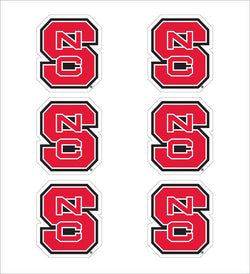 "NC State Interlock  1"" Decals - 6 Pack"