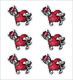 "NC State Strutting Wolf 1"" Decals- 6 Pack"