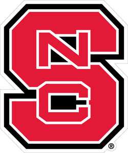 "NC State ""NCS"" Interlock Vinyl Decal"