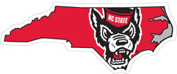 "NC State ""State Shape"" Vinyl Decal"