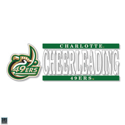 UNCC Cheerleading Vinyl Decal