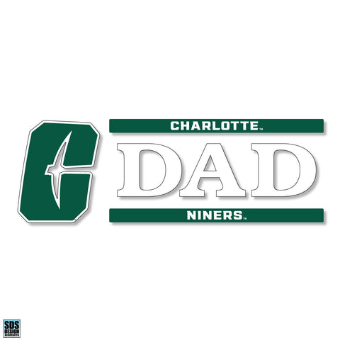 UNCC Dad Vinyl Decal (New Logo)