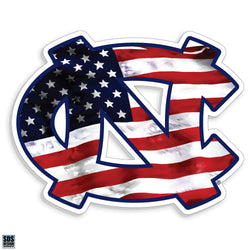 UNC Interlock Decal (American Flag)