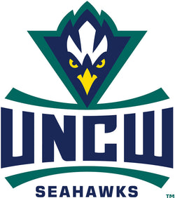 UNC Wilmington Seahawks 6 White Oval Magnet