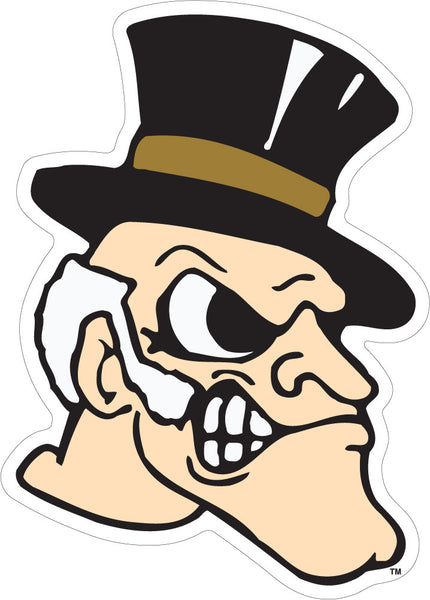 Wake Forest Deacon Head Decal