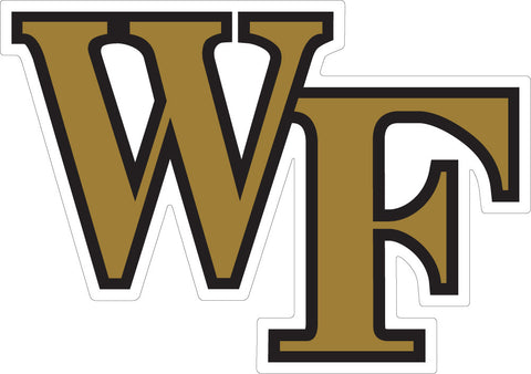 "Wake Forest ""WF"" Decal"