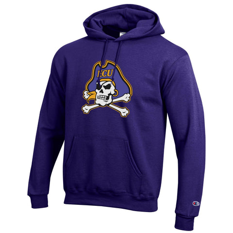 ECU Champion Primary Logo Hooded Sweatshirt