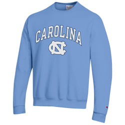 UNC Champion Arched Logo Crewneck Sweatshirt