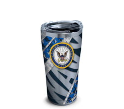 Navy 20 oz. Stainless Steel Tumbler