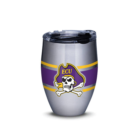 ECU 12 oz. Stripes Stainless Steel Tumbler