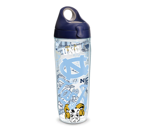 UNC 24 oz. All Over Wrap Water Bottle