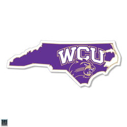 WCU Purple State Logo Decal
