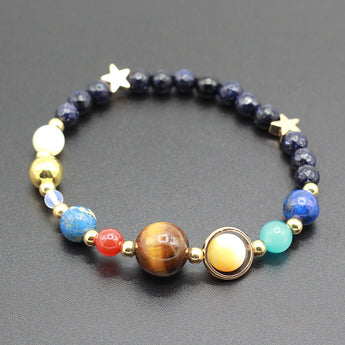 Galaxy Guardian Star Natural Stone Beads Bracelet