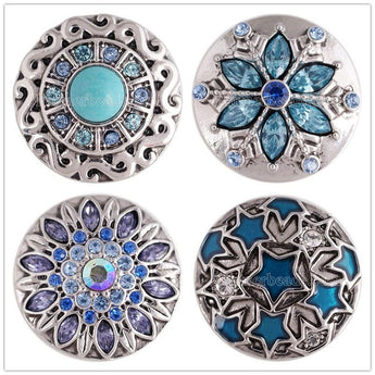 18mm Rhinestone Snap Buttons