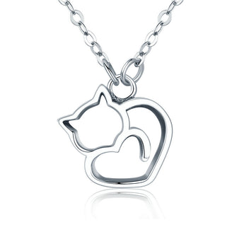 Lovely Cat Exquisite Pendant Necklace