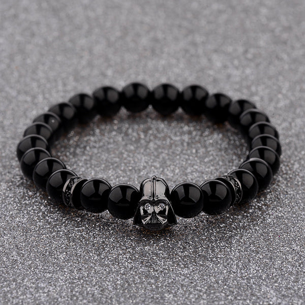 Star Wars Darth Vader Natural Stone Bracelet