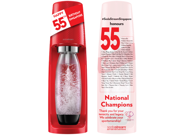SodaStream Singapore Celebrates 55 Sports Champions To Commemorate Nation's 55th Birthday
