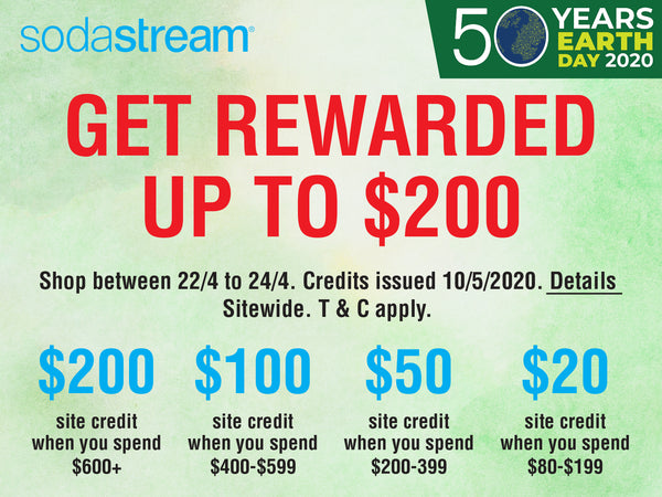 EARTH DAY SITE CREDITS REWARDS FOR SODASTREAM SINGAPORE FAM