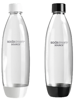 SodaStream Bottle 1L Twin Pack Fuse Black+White