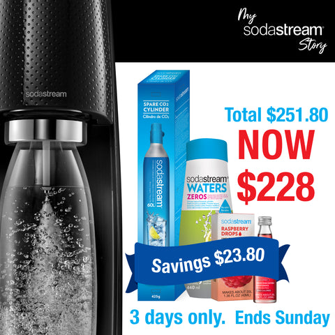 MY SODASTREAM STORY EXCLUSIVE 3 DAYS ONLY - BLACK