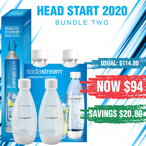 HEAD START 2020 - SodaStream Bottles Bundle 2 - Saves $20.80