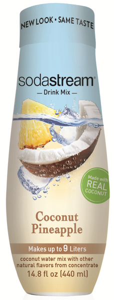 SodaStream Fruits Coconut Water Pineapple Drink Mix - All Natural Goodness