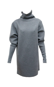 Turtle Neck Neoprene Dress