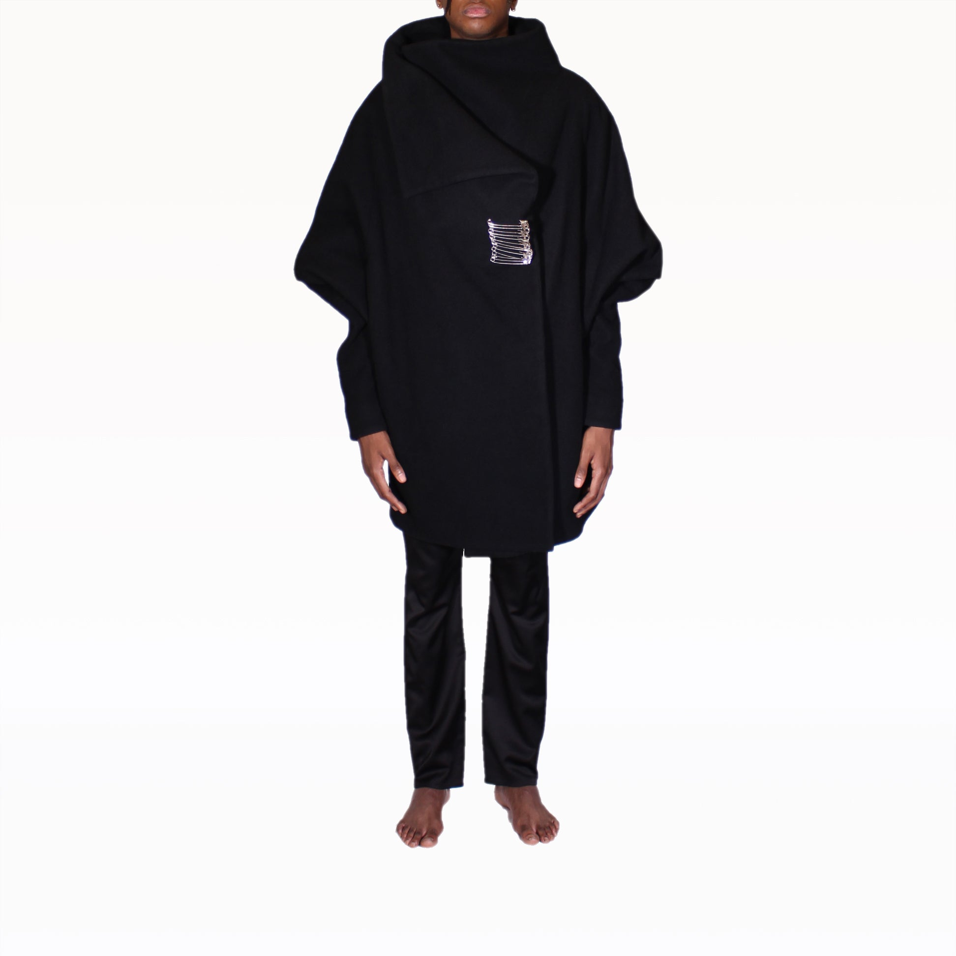 Front of Black Rob Coat