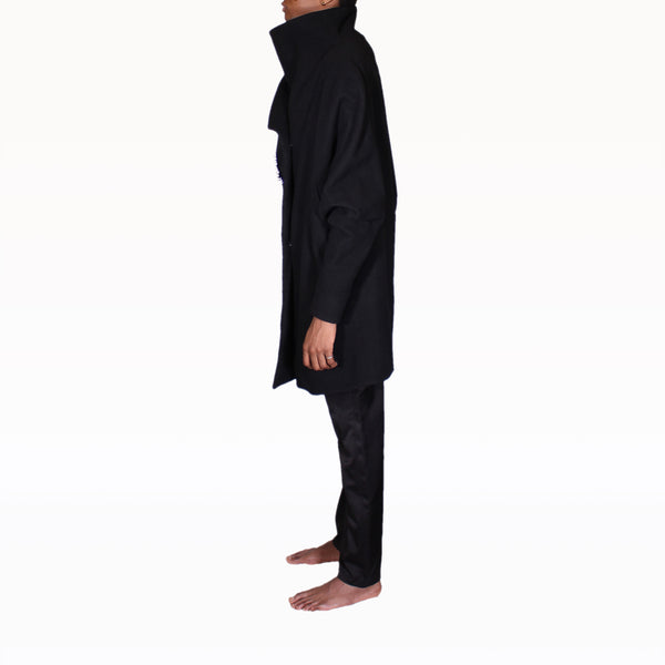 Left profile of Black Rob Coat