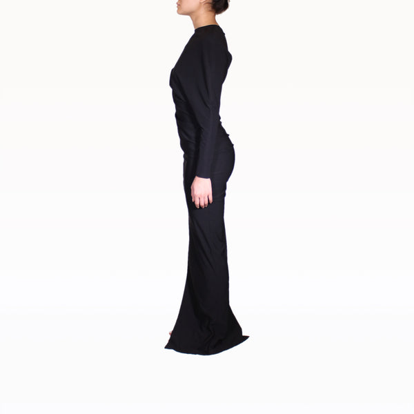 Left profile of One Sleeve Dress