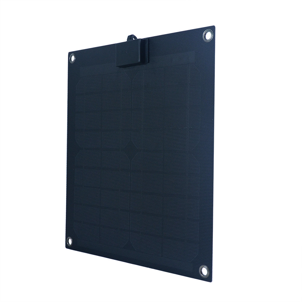 15-Watt Semi-Flex Monocrystalline Solar Panel for 12-Volt Charging (refurbished) - Ecowareness