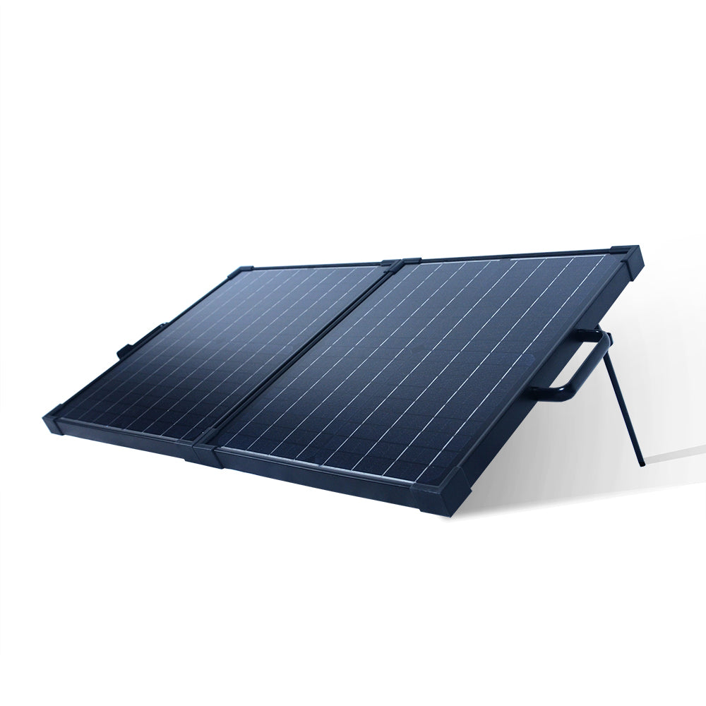 40-Watt Portable Monocrystalline Solar Panel for 12-Volt Charging in Briefcase Design (refurbished) - Ecowareness