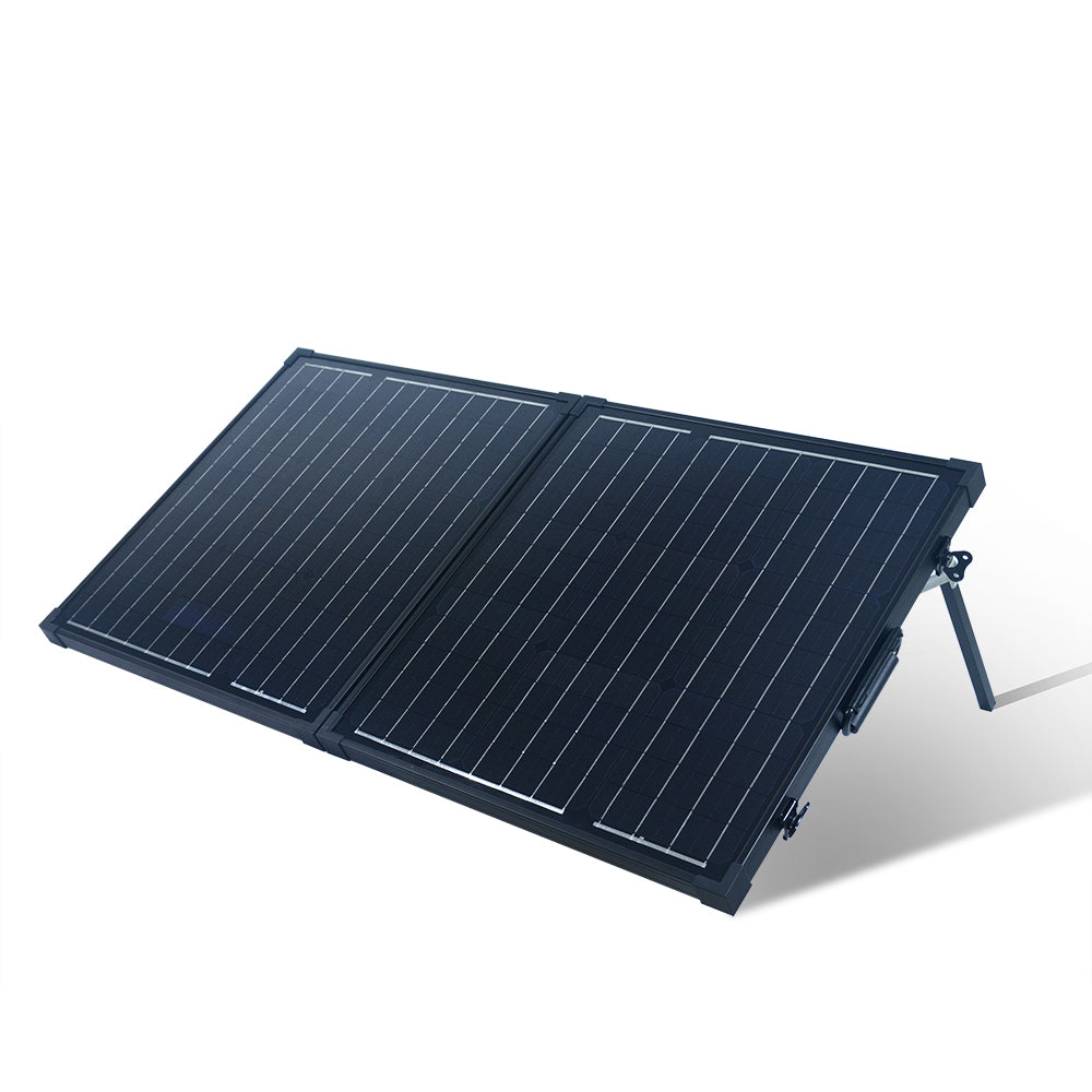 80-Watt Portable Monocrystalline Solar Panel for 12-Volt Charging in Briefcase Design (refurbished) - Ecowareness
