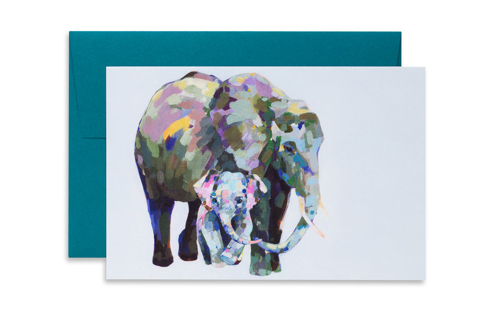 Load image into Gallery viewer, Wee Elephant | Ashforth Press Blank Card