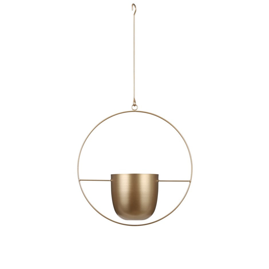 Gold Dexter Hanging Pot - Circle