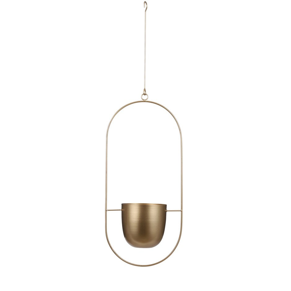 Gold Dexter Hanging Pot - Oval