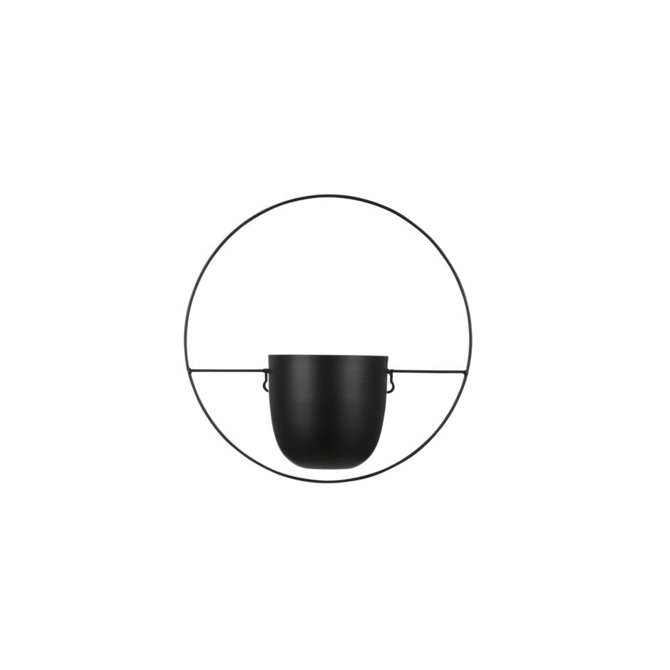 Load image into Gallery viewer, Black Dexter Hanging Pot - Circle