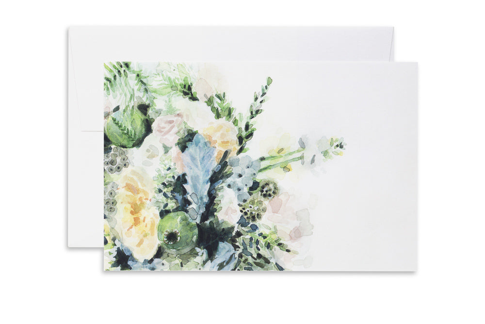 Green Bouquet | Ashforth Press Blank Card