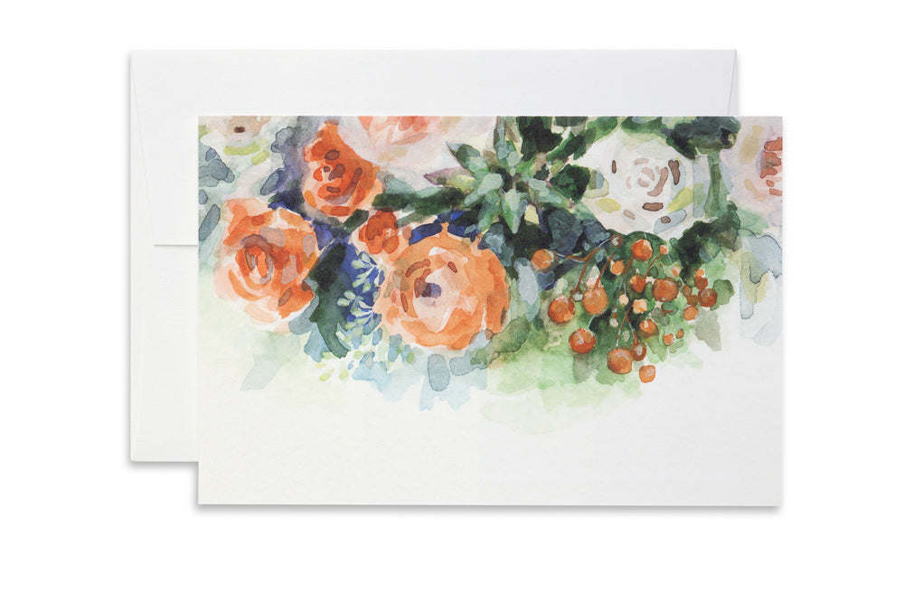 Orange Bouquet | Ashforth Press Blank Card