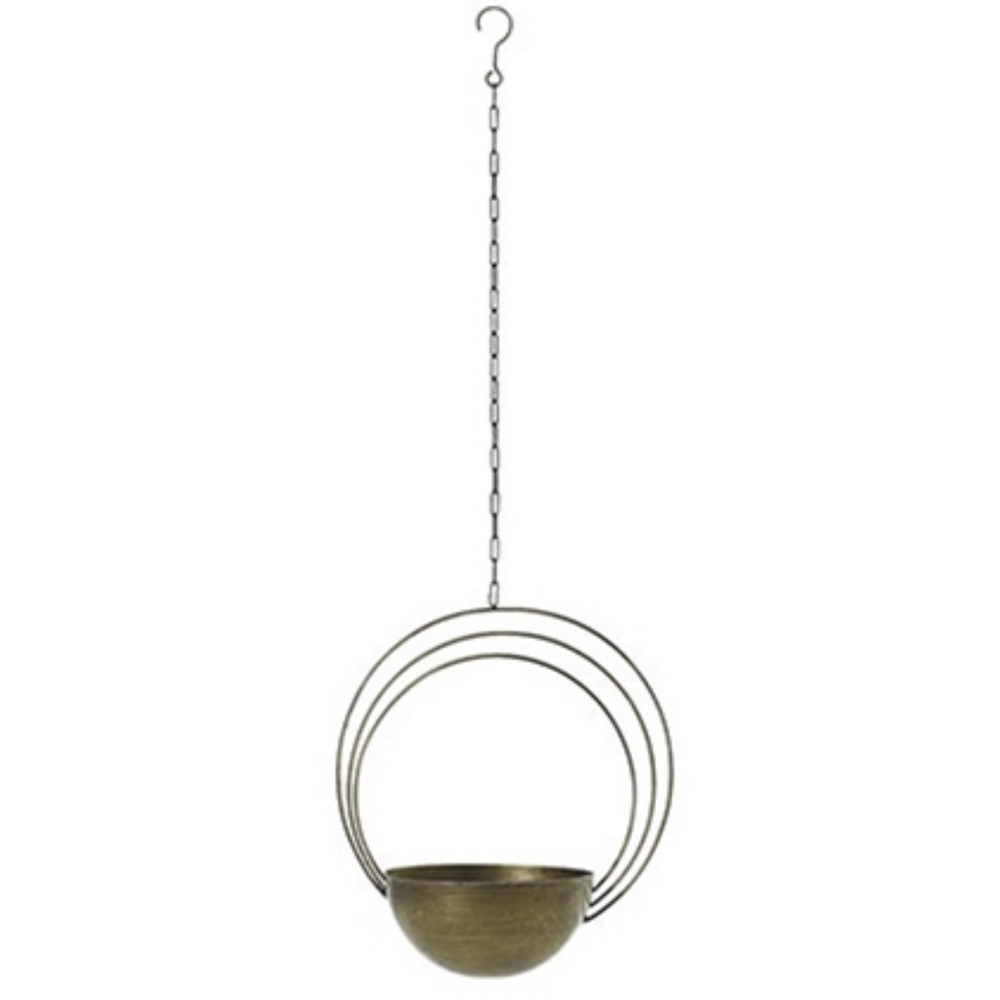 Load image into Gallery viewer, Saturn Brass Plant Hanger