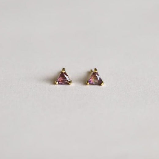 Amethyst Mini Energy Gem Earrings